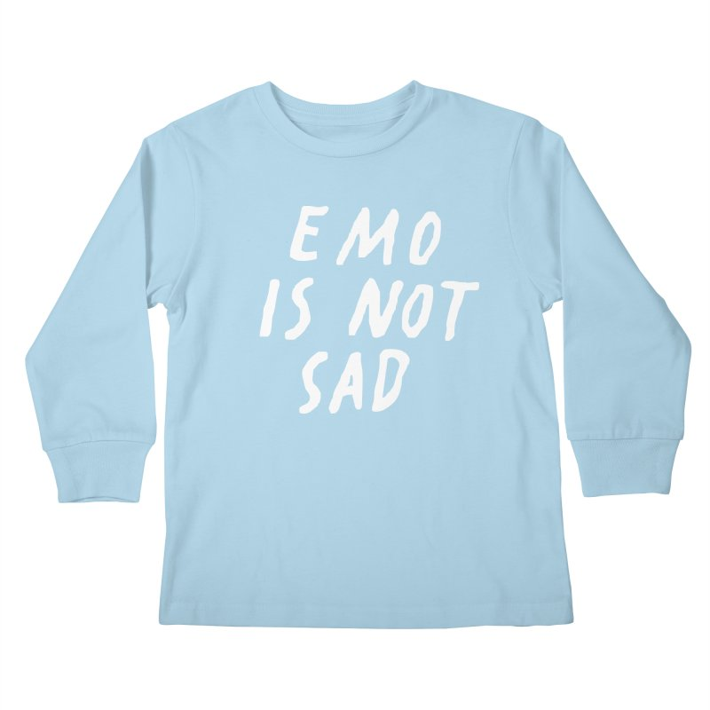 Emo is Not Sad  Kids Longsleeve T-Shirt by Washed Up Emo