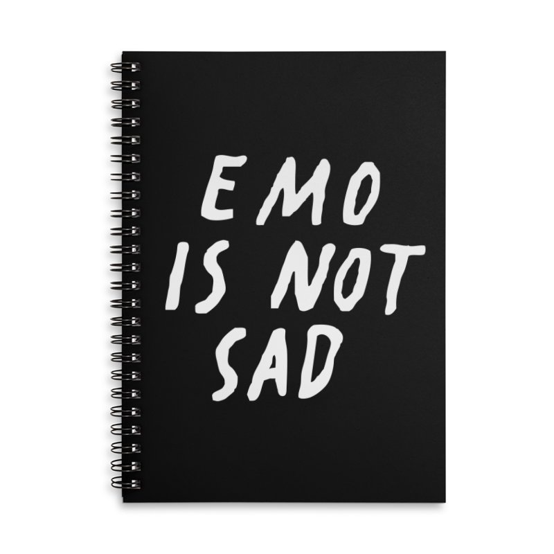 Emo is Not Sad  Accessories Notebook by Washed Up Emo