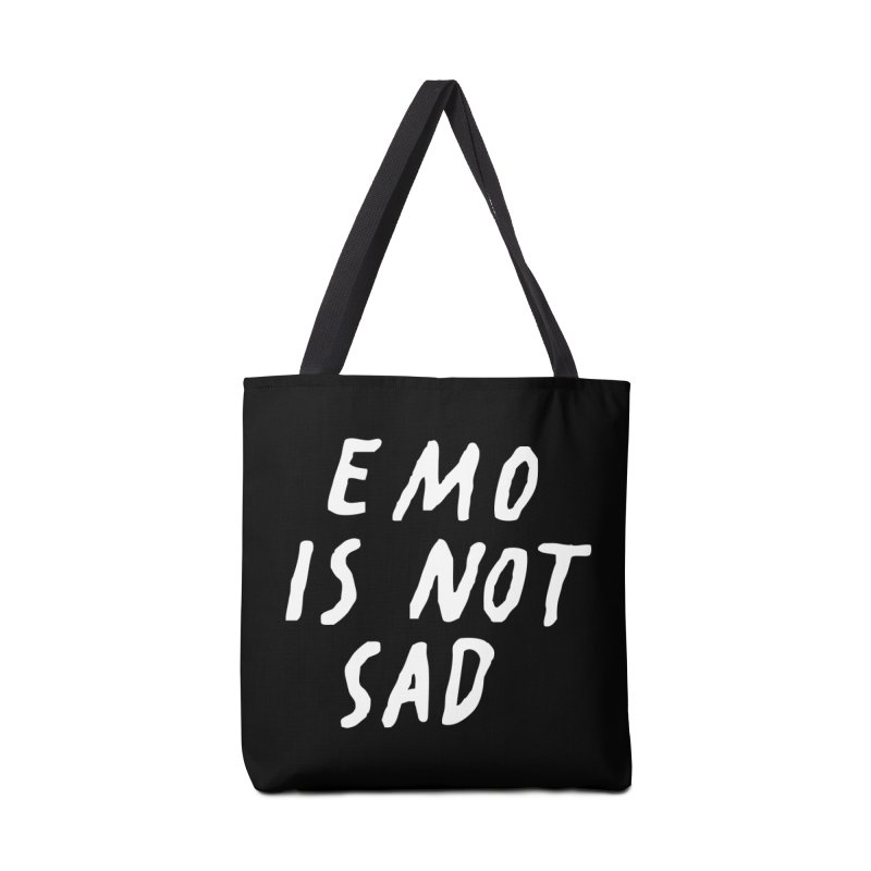 Emo is Not Sad  Accessories Tote Bag Bag by Washed Up Emo