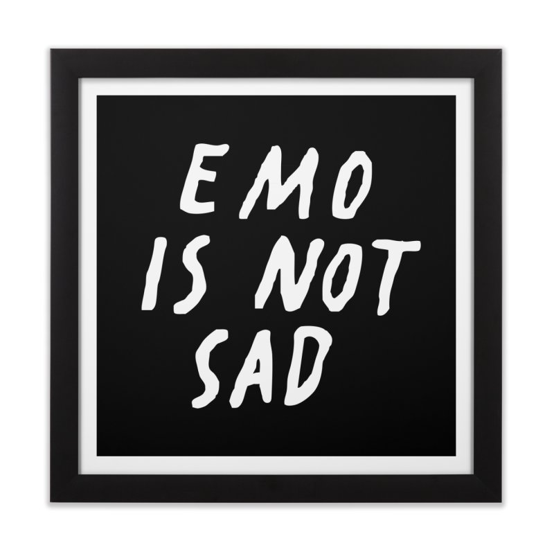 Emo is Not Sad  Home Framed Fine Art Print by Washed Up Emo