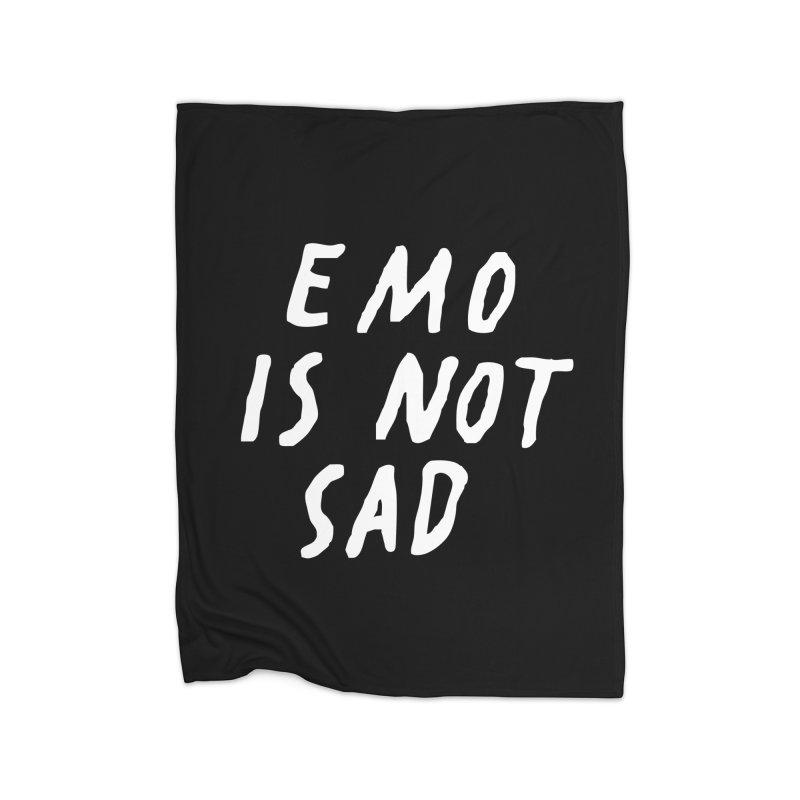 Emo is Not Sad  Home Fleece Blanket Blanket by Washed Up Emo