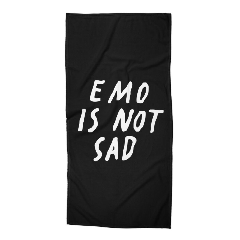 Emo is Not Sad  Accessories Beach Towel by Washed Up Emo
