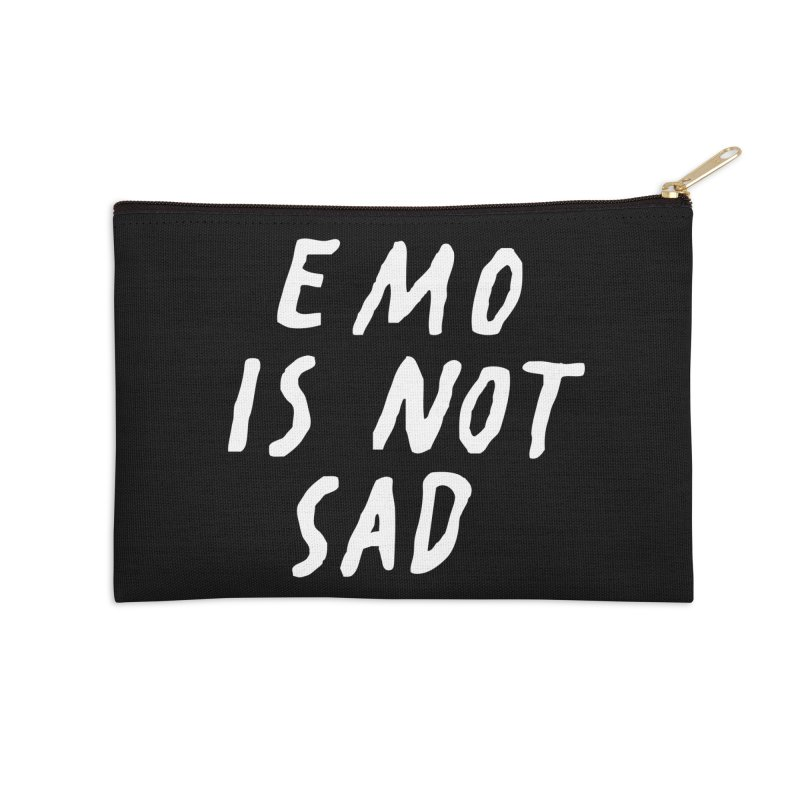 Emo is Not Sad  Accessories Zip Pouch by Washed Up Emo