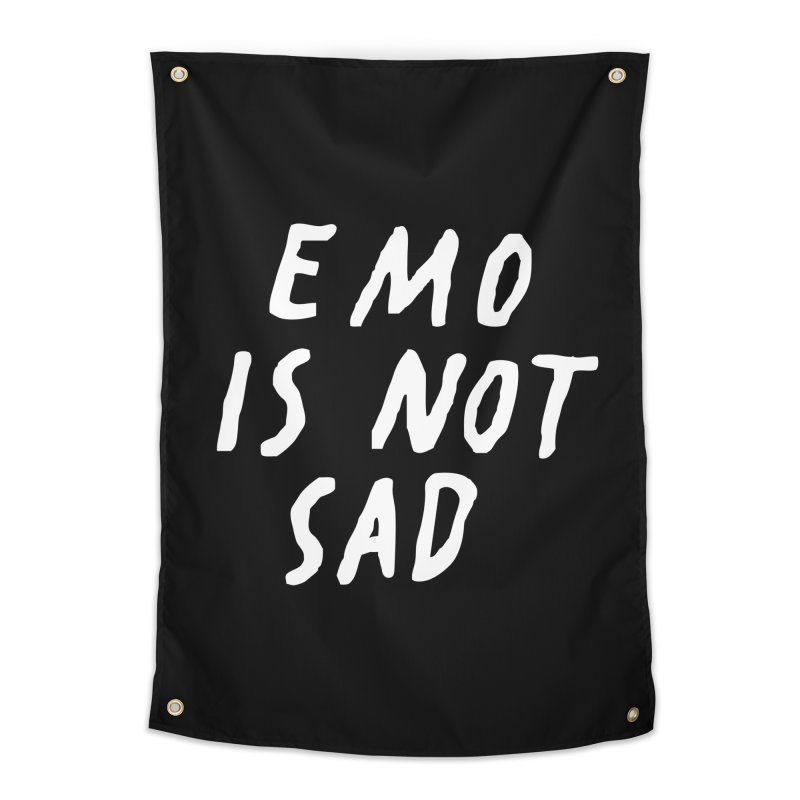 Emo is Not Sad  Home Tapestry by Washed Up Emo