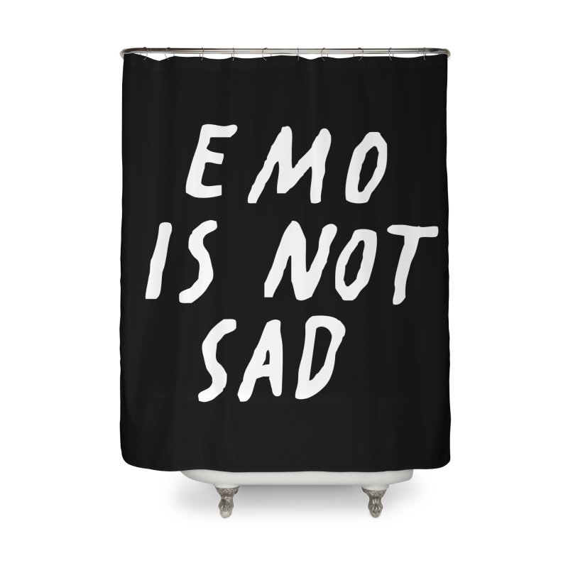 Emo is Not Sad  Home Shower Curtain by Washed Up Emo