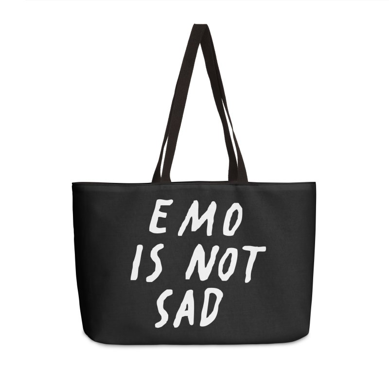 Emo is Not Sad  Accessories Weekender Bag Bag by Washed Up Emo