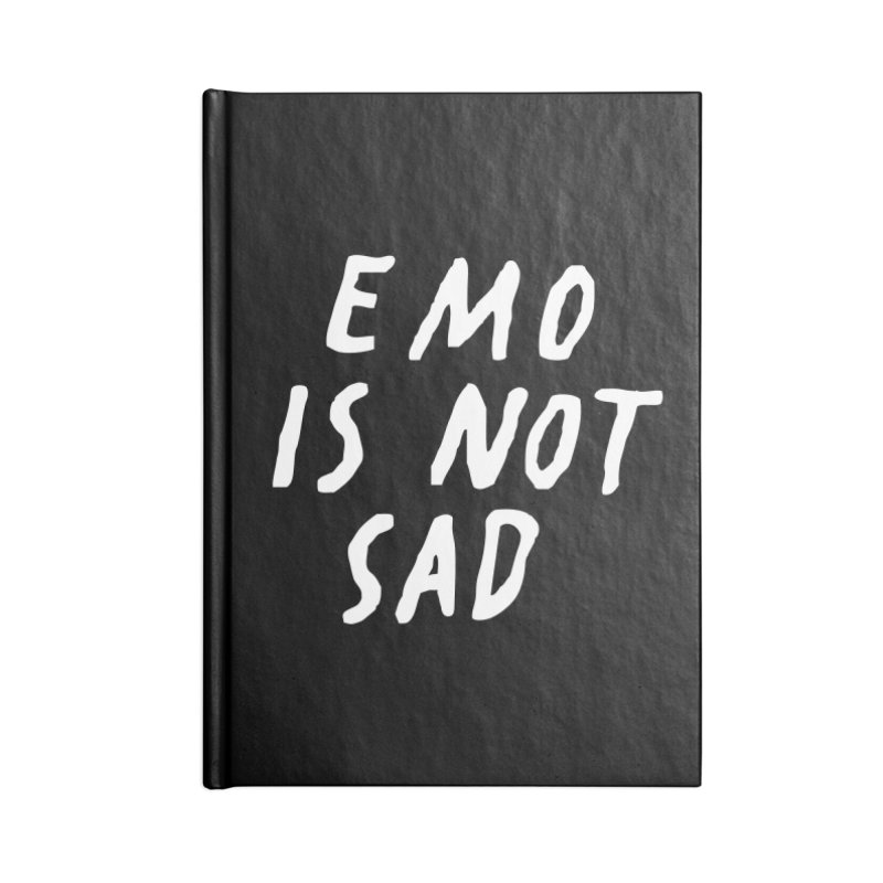 Emo is Not Sad  Accessories Blank Journal Notebook by Washed Up Emo