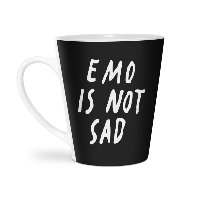 Emo is Not Sad  Accessories Latte Mug by Washed Up Emo