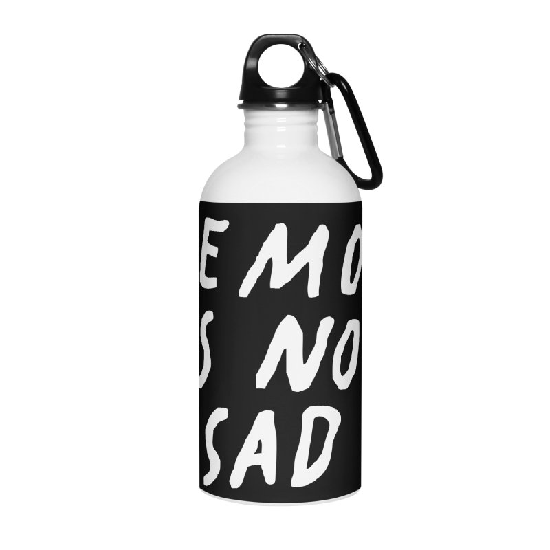 Emo is Not Sad  Accessories Water Bottle by Washed Up Emo