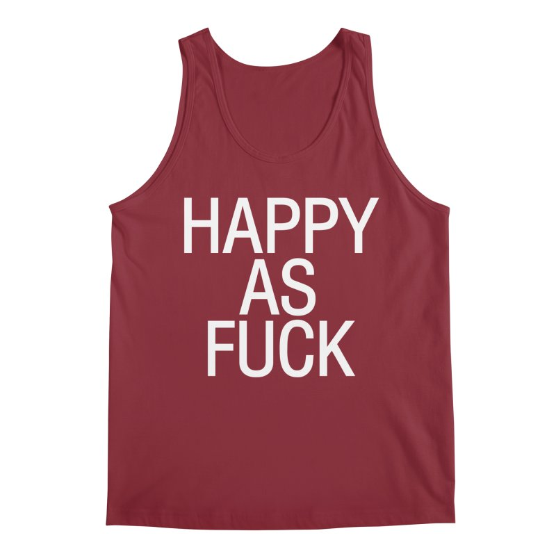 Happy as Fuck Men's Regular Tank by Washed Up Emo