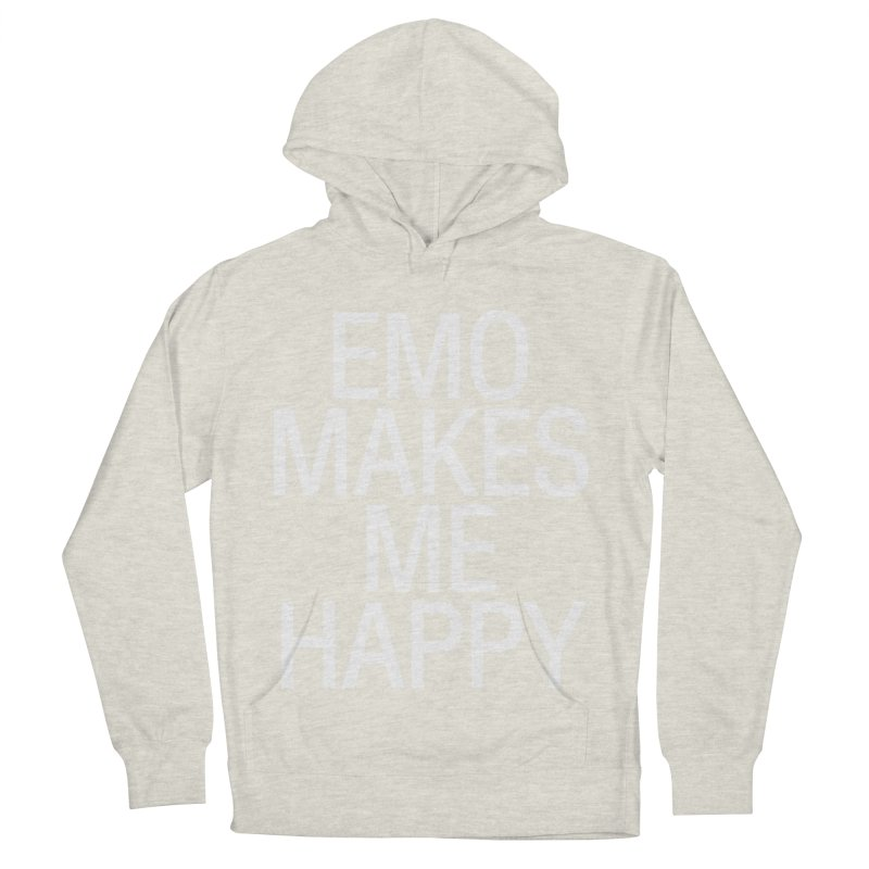 Emo Makes Me Happy Women's French Terry Pullover Hoody by Washed Up Emo
