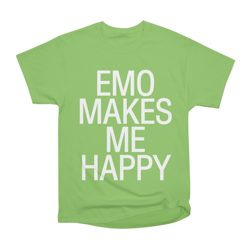 Emo Makes Me Happy Women's Heavyweight Unisex T-Shirt by Washed Up Emo