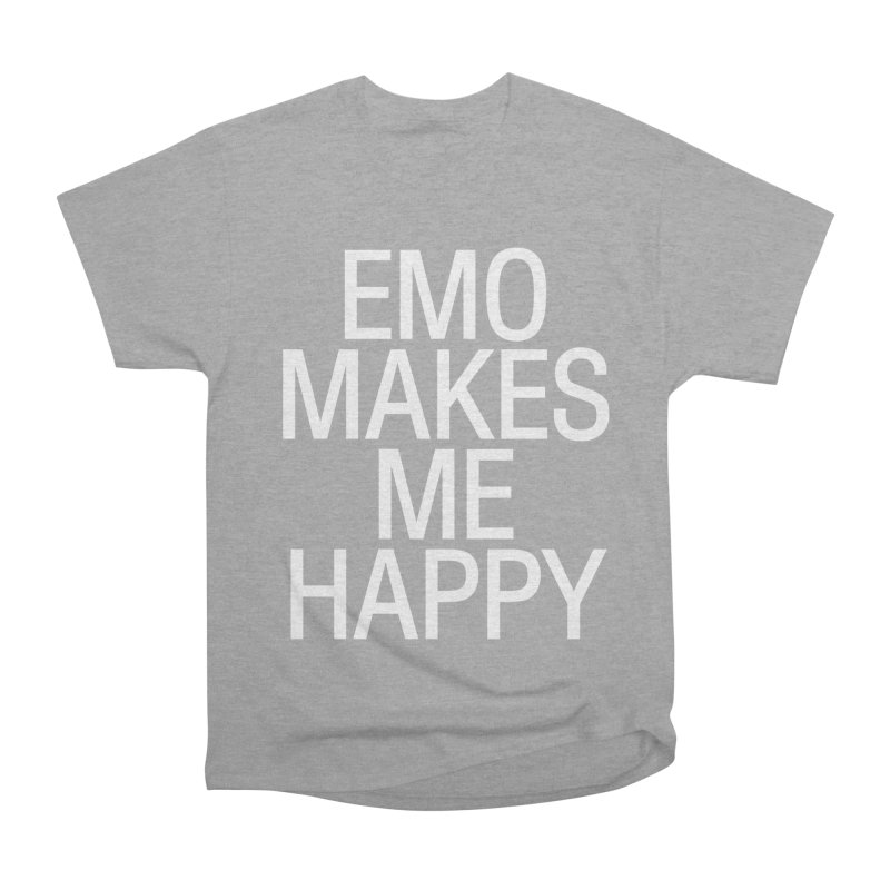 Emo Makes Me Happy Men's Heavyweight T-Shirt by Washed Up Emo