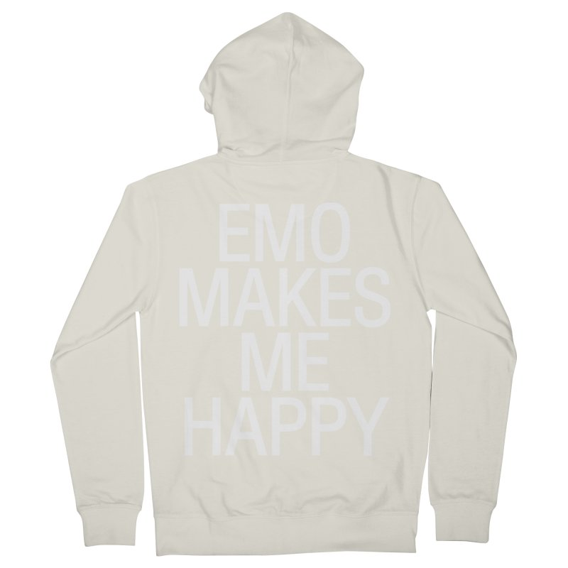 Emo Makes Me Happy Women's French Terry Zip-Up Hoody by Washed Up Emo