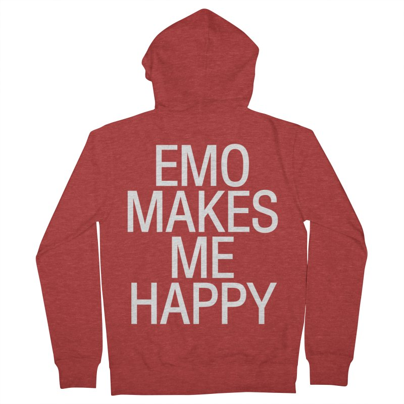 Emo Makes Me Happy Men's French Terry Zip-Up Hoody by Washed Up Emo