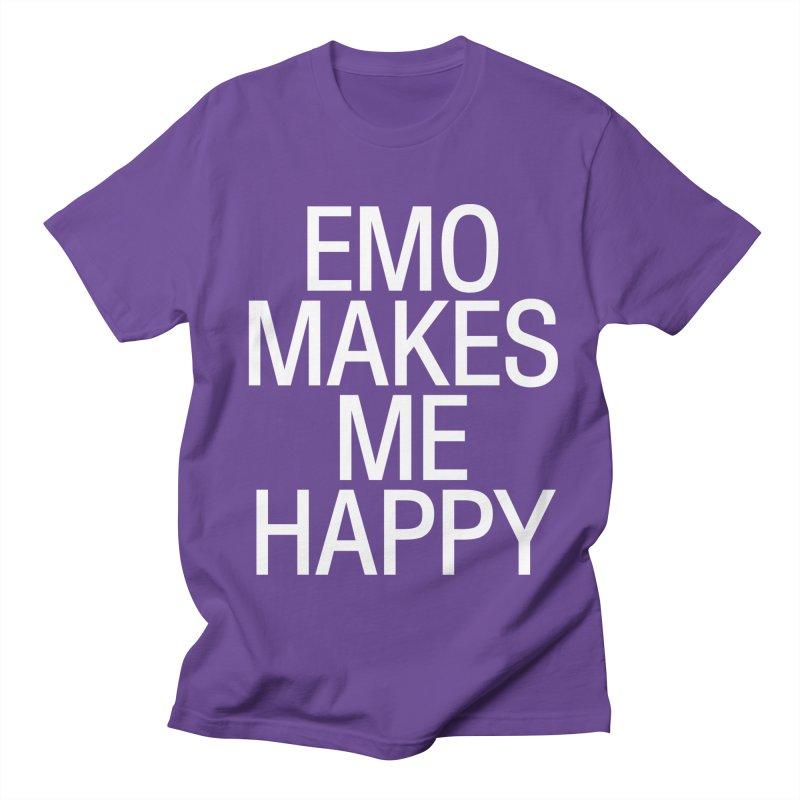 Emo Makes Me Happy Men's Regular T-Shirt by Washed Up Emo