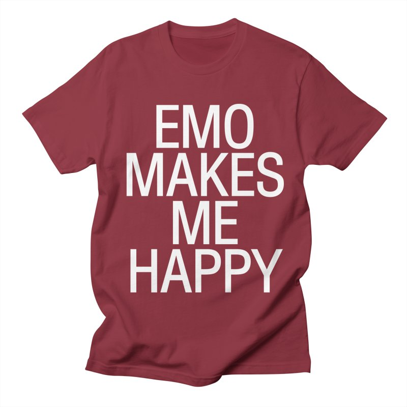 Emo Makes Me Happy Men's Regular T-Shirt by Washed Up Emo