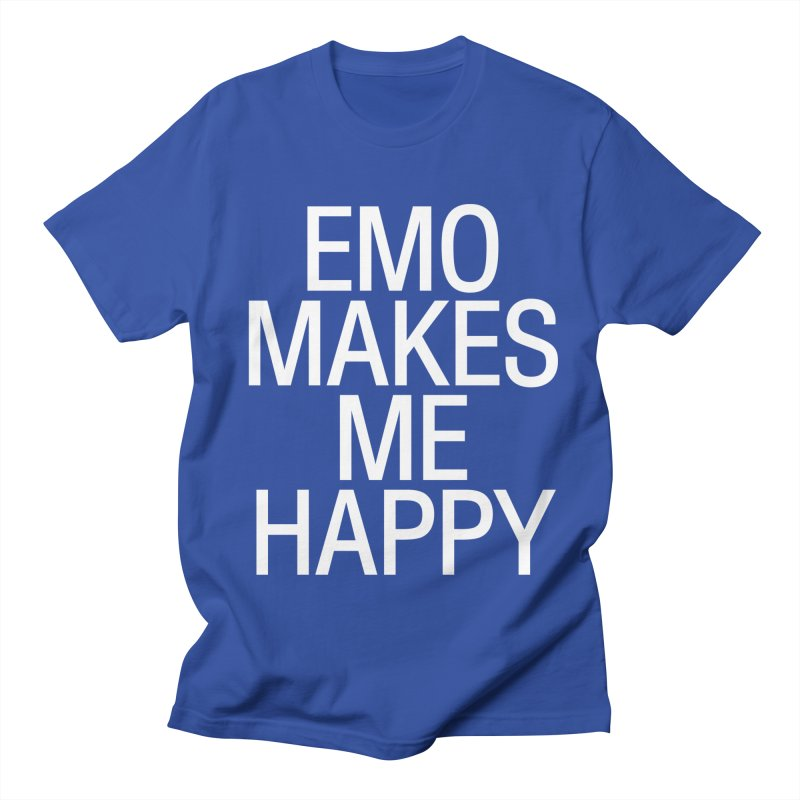 Emo Makes Me Happy Men's T-Shirt by Washed Up Emo