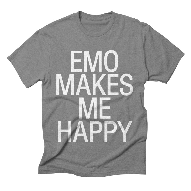 Emo Makes Me Happy Men's Triblend T-Shirt by Washed Up Emo