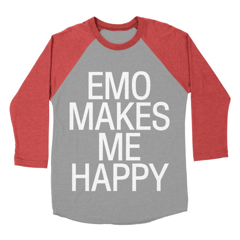 Emo Makes Me Happy Men's Longsleeve T-Shirt by Washed Up Emo
