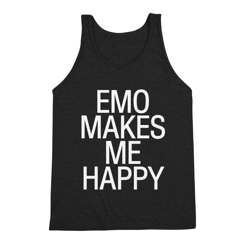 Emo Makes Me Happy Men's Tank by Washed Up Emo