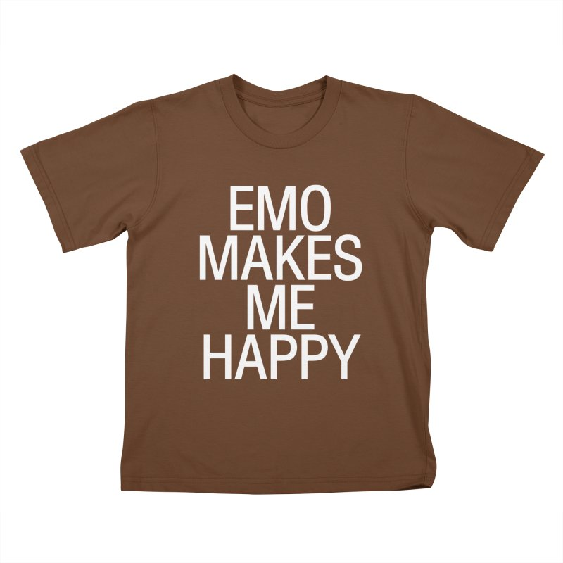 Emo Makes Me Happy Kids T-Shirt by Washed Up Emo