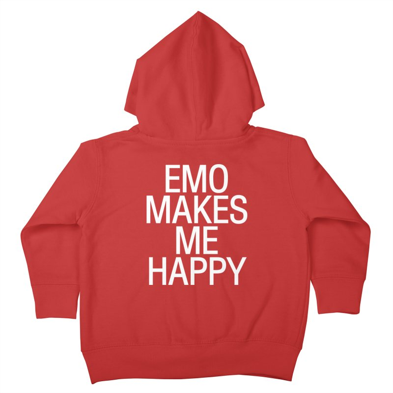 Emo Makes Me Happy Kids Toddler Zip-Up Hoody by Washed Up Emo