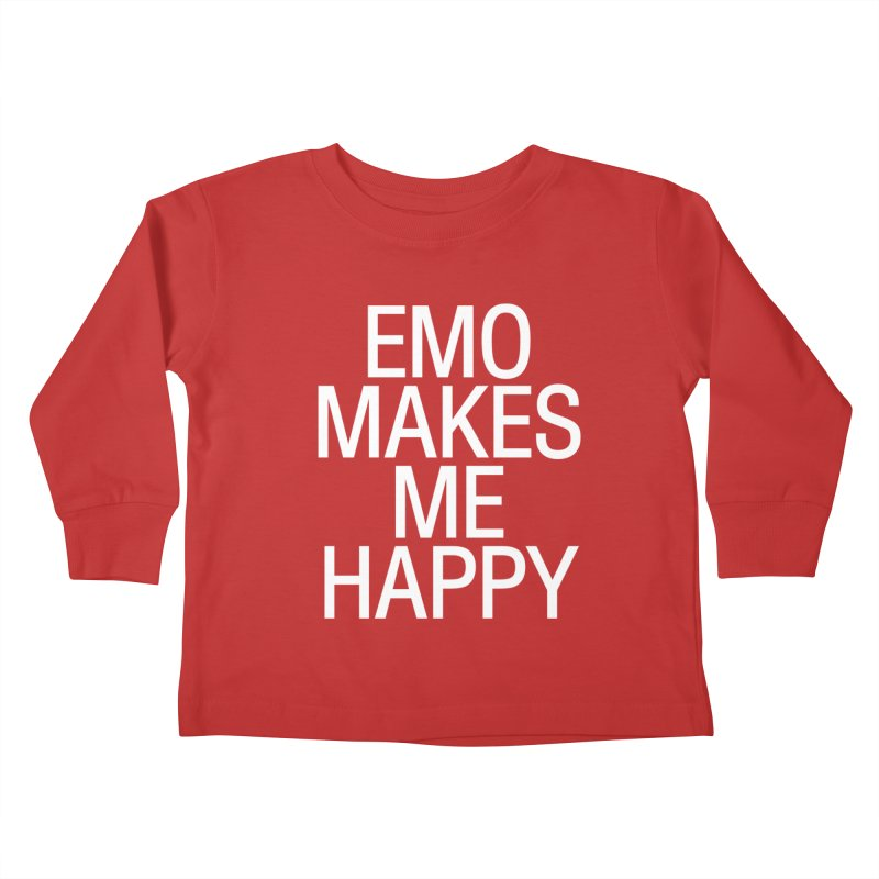 Emo Makes Me Happy Kids Toddler Longsleeve T-Shirt by Washed Up Emo