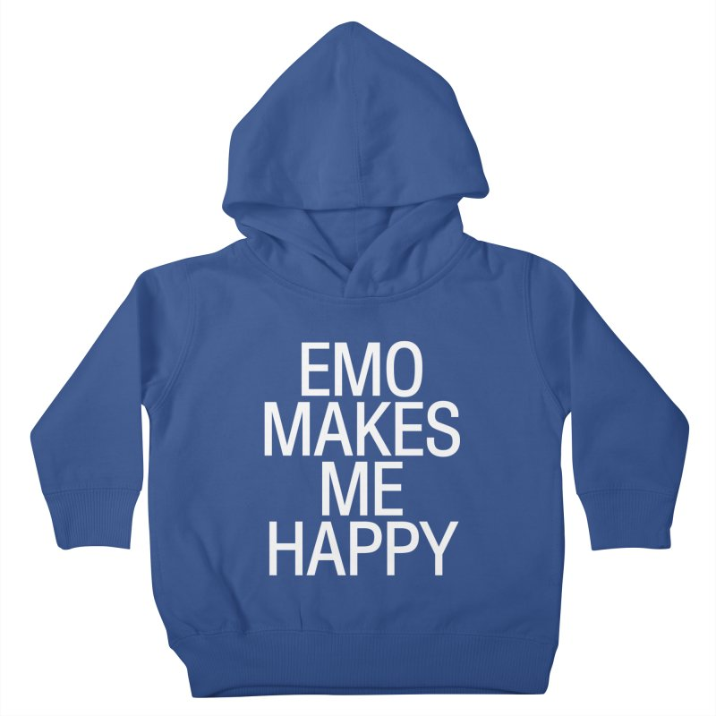 Emo Makes Me Happy Kids Toddler Pullover Hoody by Washed Up Emo