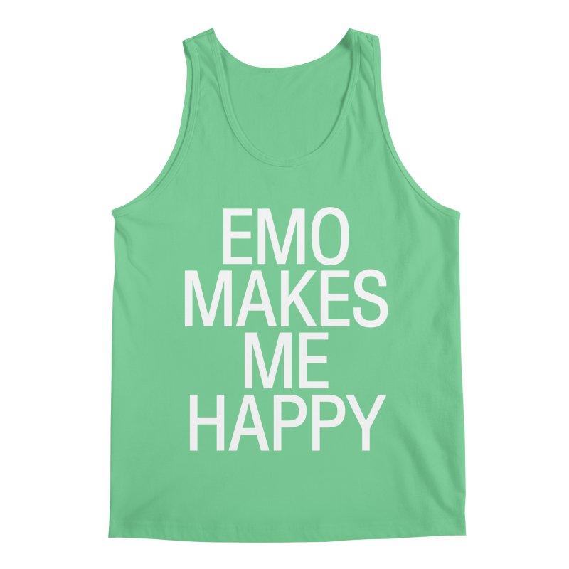 Emo Makes Me Happy Men's Regular Tank by Washed Up Emo