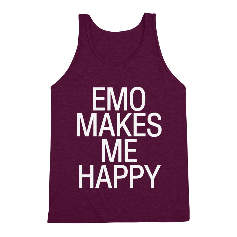 Emo Makes Me Happy Men's Triblend Tank by Washed Up Emo