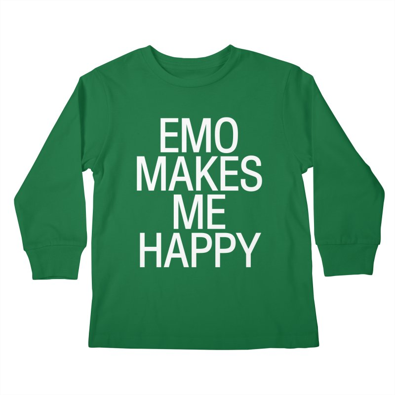 Emo Makes Me Happy Kids Longsleeve T-Shirt by Washed Up Emo