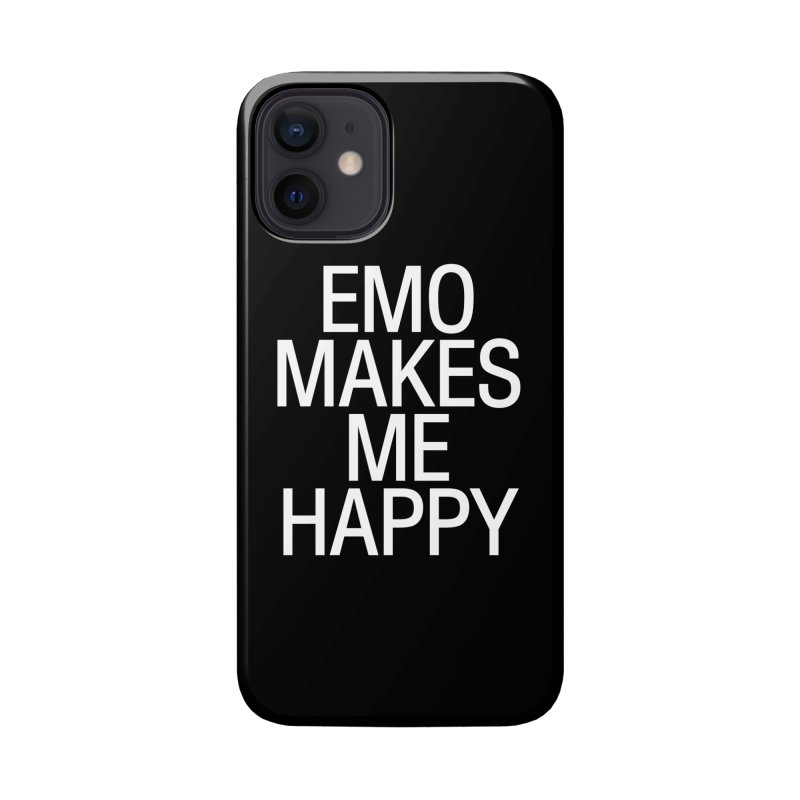 Emo Makes Me Happy Accessories Phone Case by Washed Up Emo