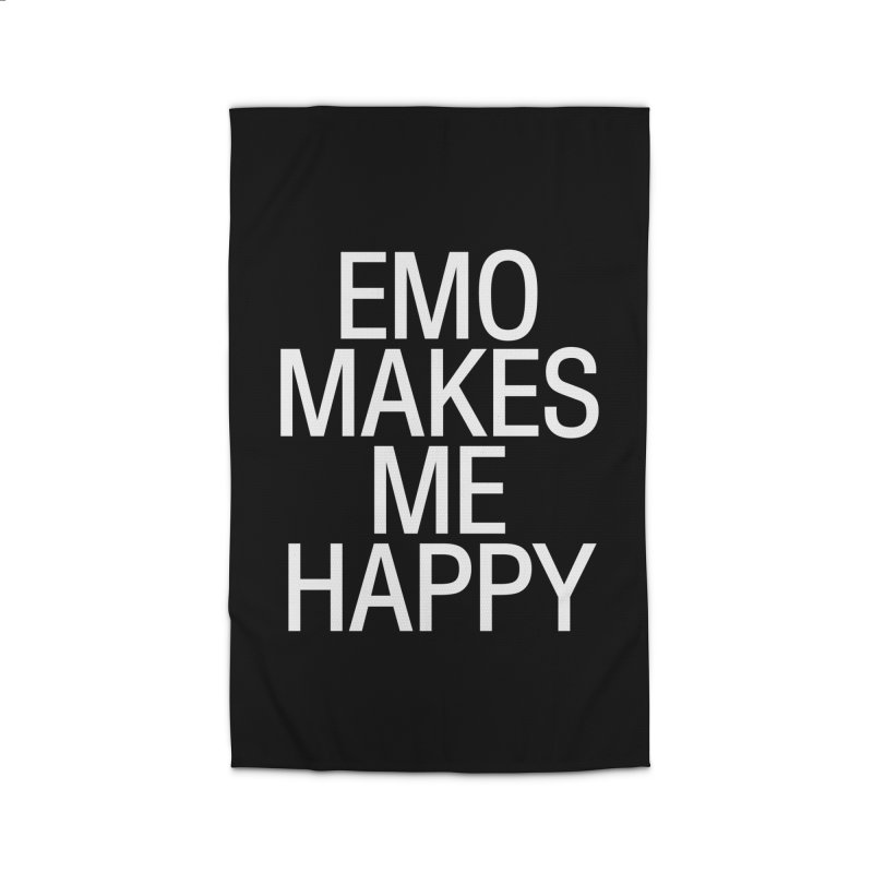 Emo Makes Me Happy Home Rug by Washed Up Emo