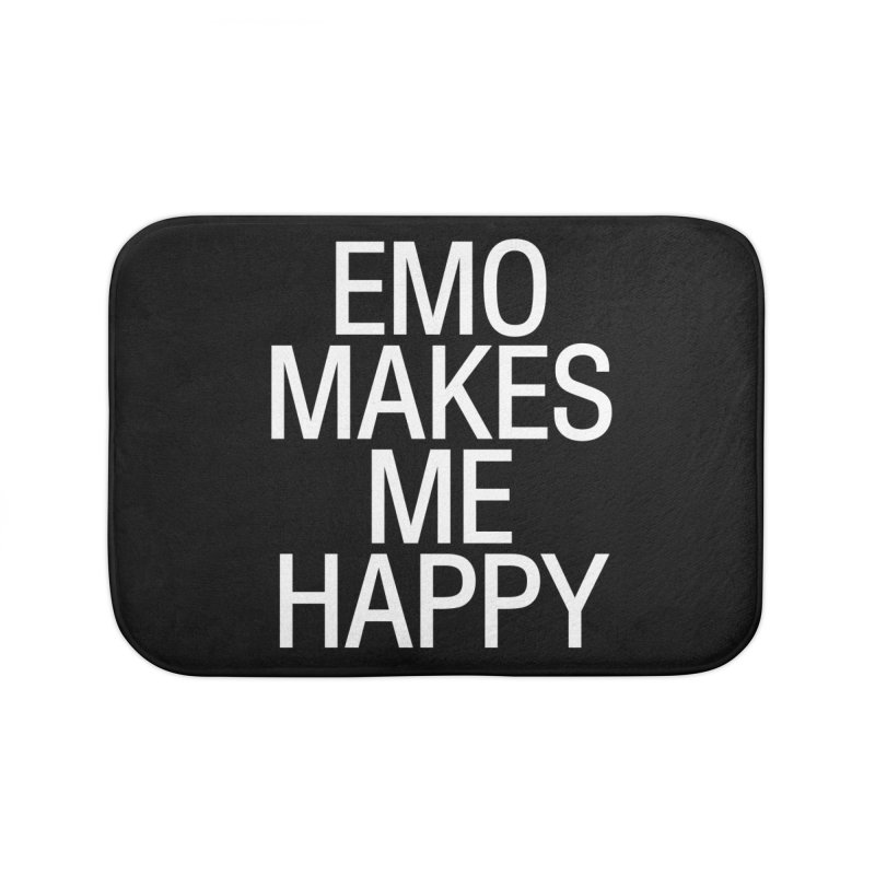 Emo Makes Me Happy Home Bath Mat by Washed Up Emo