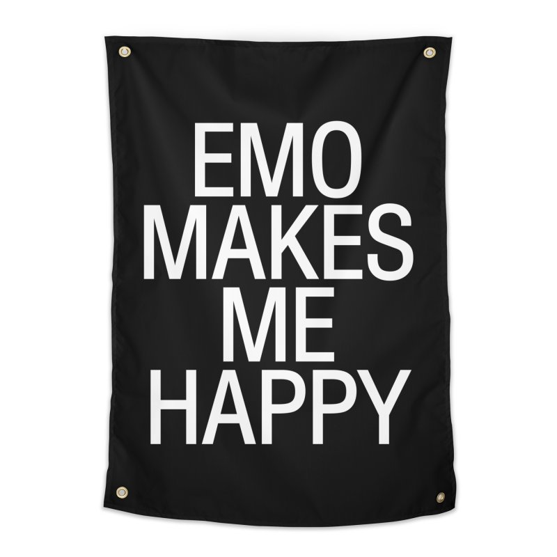 Emo Makes Me Happy Home Tapestry by Washed Up Emo