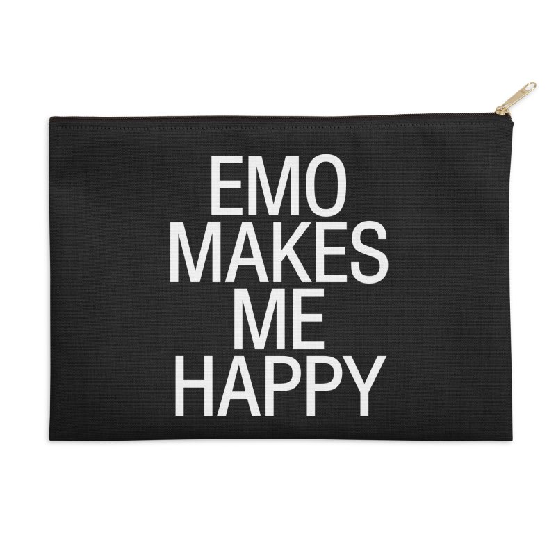 Emo Makes Me Happy Accessories Zip Pouch by Washed Up Emo
