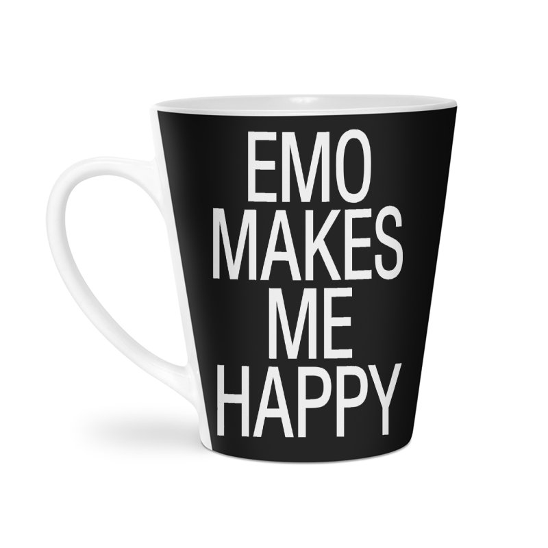 Emo Makes Me Happy Accessories Latte Mug by Washed Up Emo