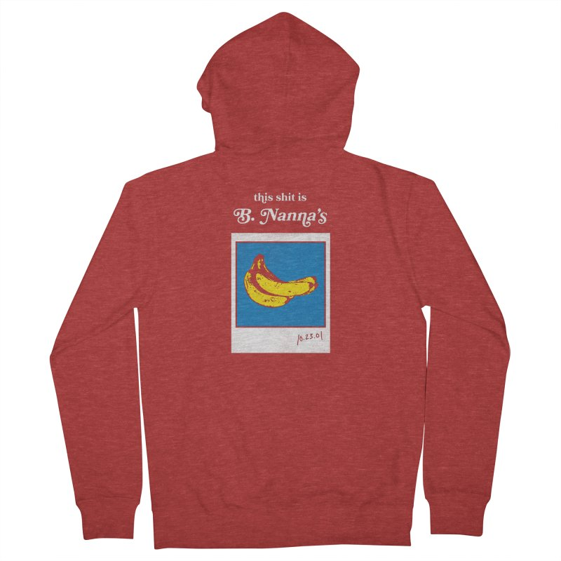 This Shit Is B. Nanna's  Women's French Terry Zip-Up Hoody by Washed Up Emo