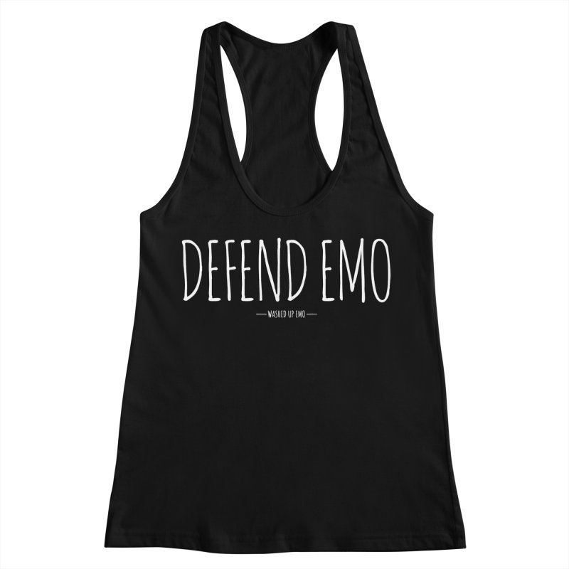 Defend Emo Women's Racerback Tank by Washed Up Emo