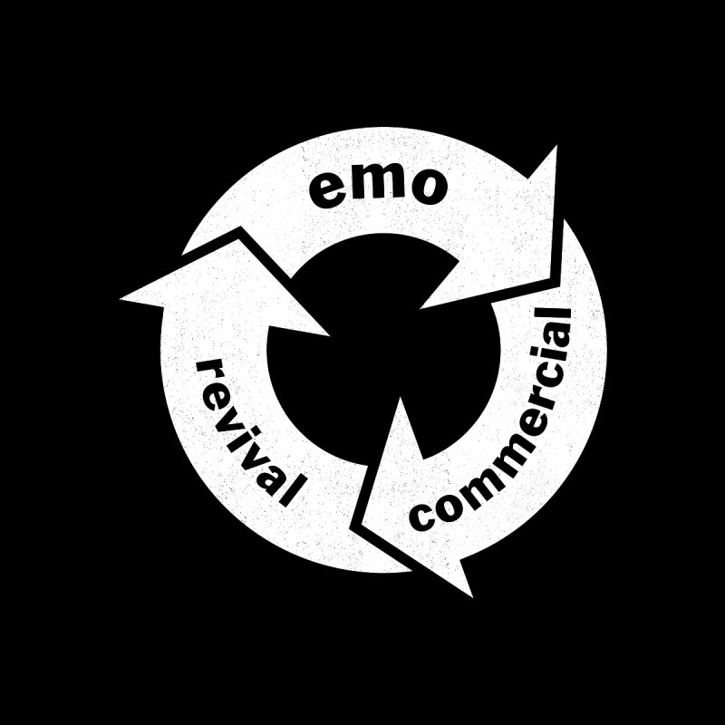 Emo Cycle  Men's T-Shirt by Washed Up Emo