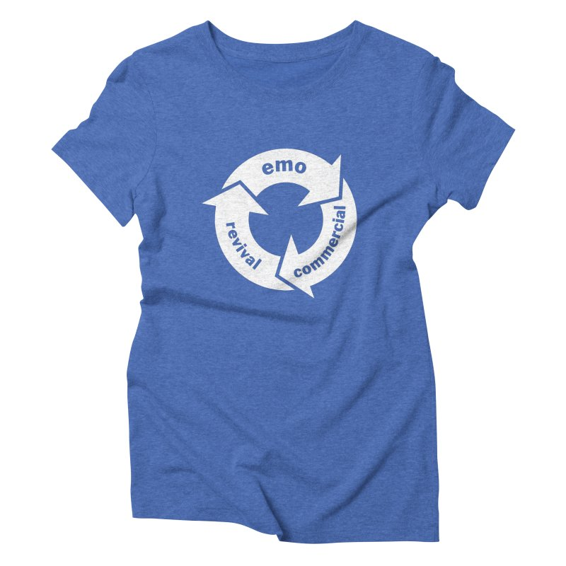 Emo Cycle  Women's Triblend T-Shirt by Washed Up Emo