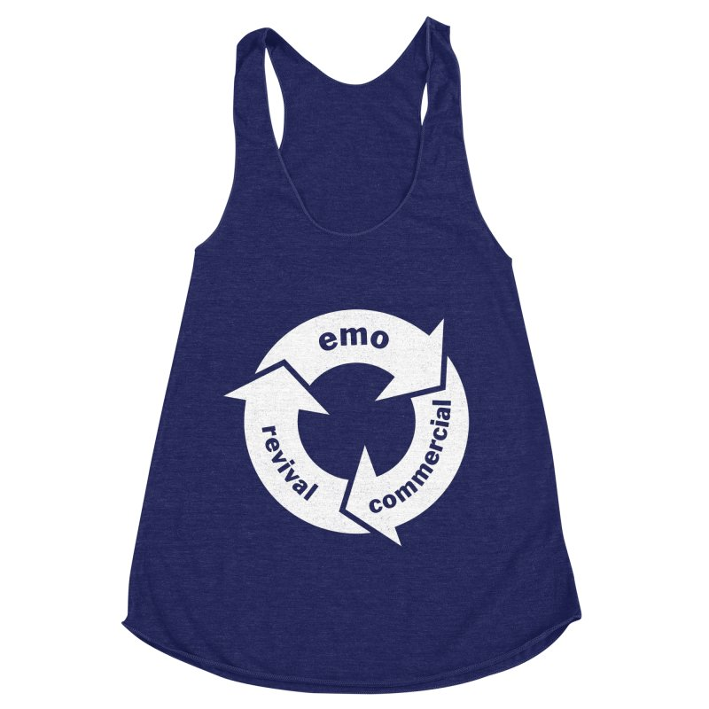 Emo Cycle  Women's Racerback Triblend Tank by Washed Up Emo