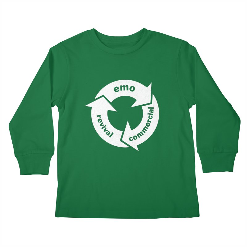 Emo Cycle  Kids Longsleeve T-Shirt by Washed Up Emo