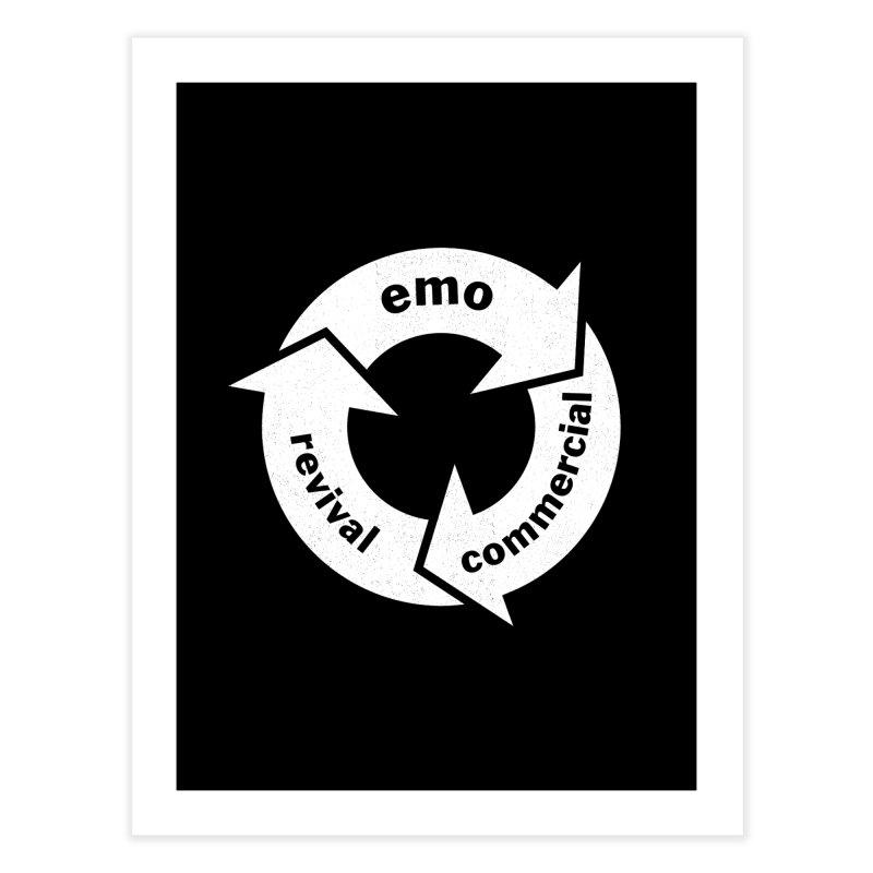 Emo Cycle  Home Fine Art Print by Washed Up Emo