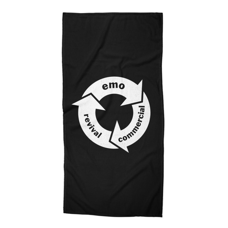 Emo Cycle  Accessories Beach Towel by Washed Up Emo