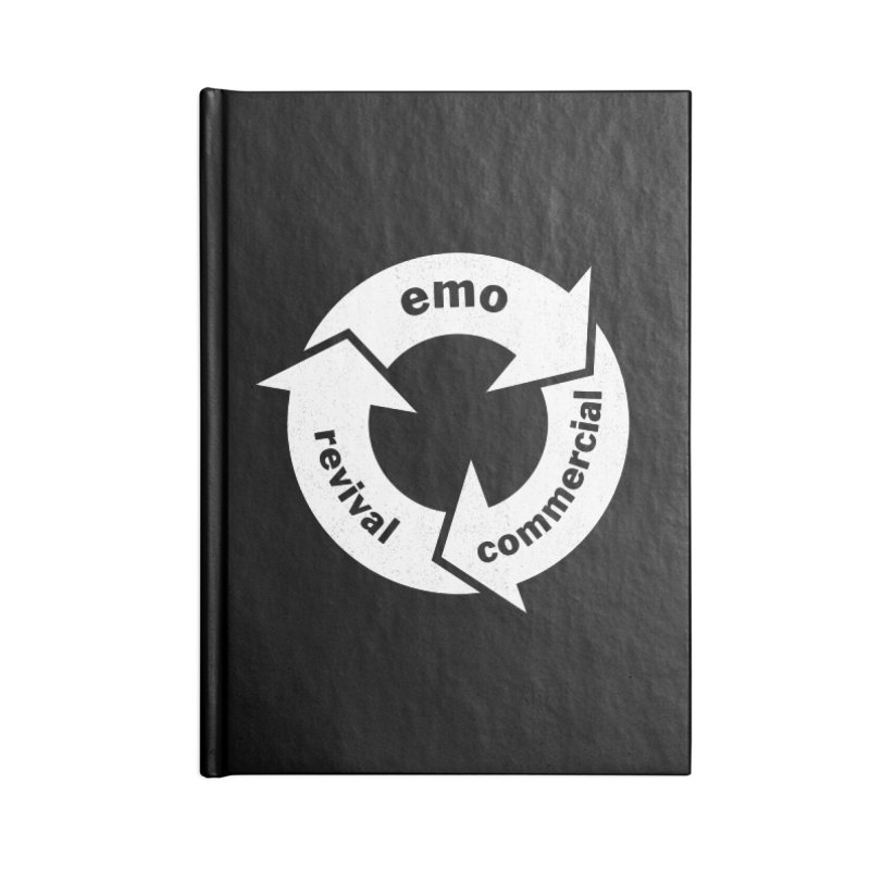 Emo Cycle  Accessories Lined Journal Notebook by Washed Up Emo