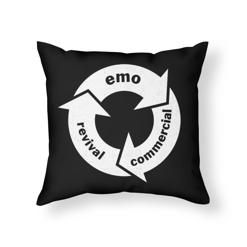 Emo Cycle  Home Throw Pillow by Washed Up Emo