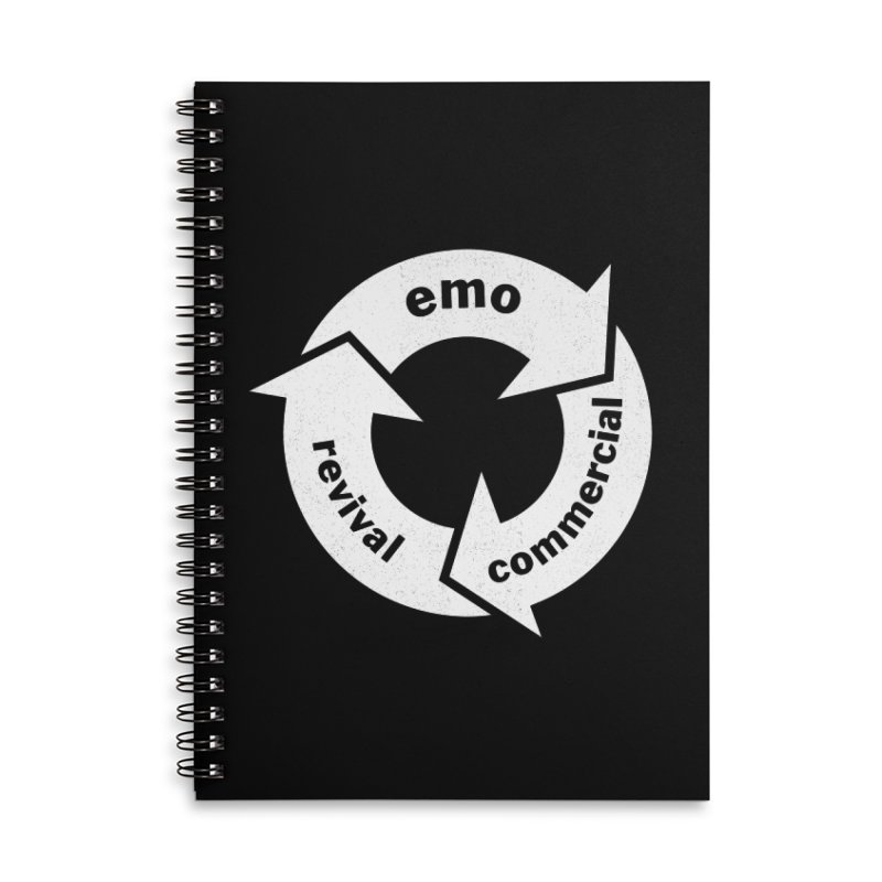 Emo Cycle  Accessories Lined Spiral Notebook by Washed Up Emo