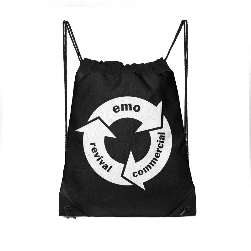 Emo Cycle  Accessories Drawstring Bag Bag by Washed Up Emo